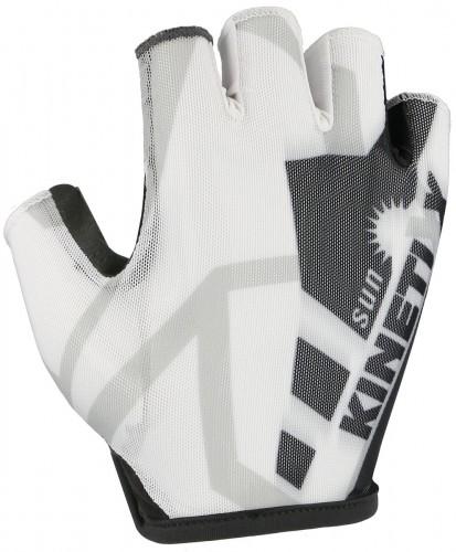 KinetiXx Leo Fahrrad Handschuhe kurz weiß/schwarz 2021