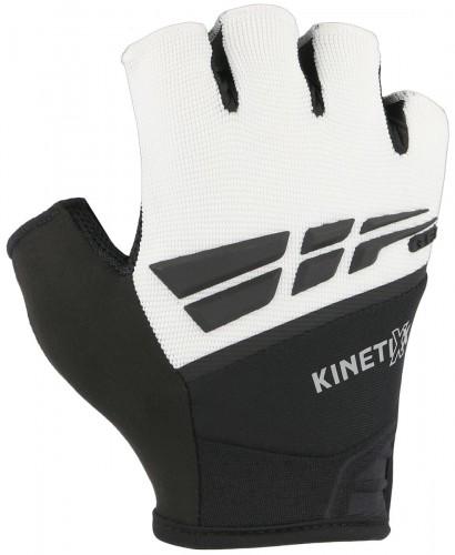 KinetiXx Laif Fahrrad Handschuhe kurz weiß/schwarz 2021