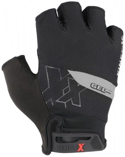 KinetiXx Lando Fahrrad Handschuhe kurz schwarz/grau 2021