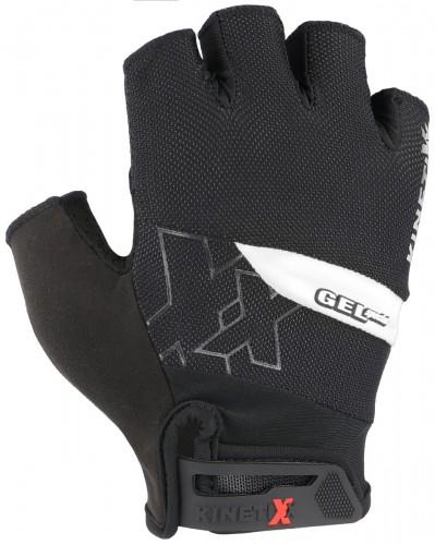 KinetiXx Lando Fahrrad Handschuhe kurz schwarz/weiß 2021