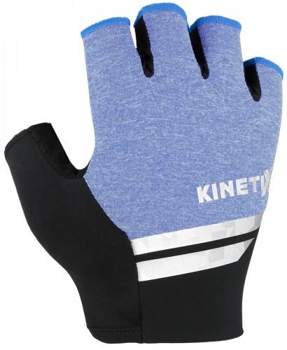 KinetiXx Larry Fahrrad Handschuhe kurz blau melange 2021