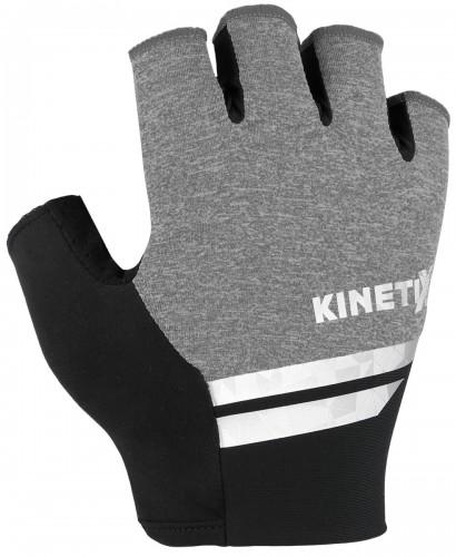 KinetiXx Larry Fahrrad Handschuhe kurz grau melange 2021
