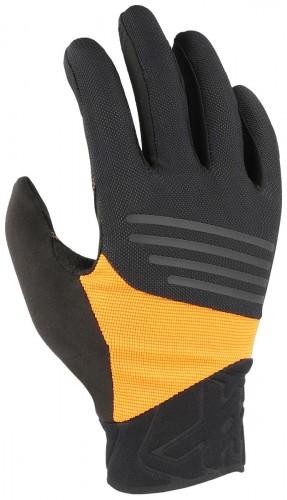 KinetiXx Lenox Fahrrad Handschuhe lang schwarz/orange 2021