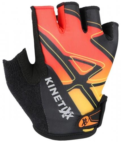 KinetiXx Locke Kinder Fahrrad Handschuhe kurz schwarz/rot 2021