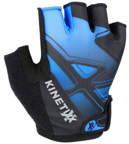 KinetiXx Locke Kinder Fahrrad Handschuhe kurz schwarz/blau 2021