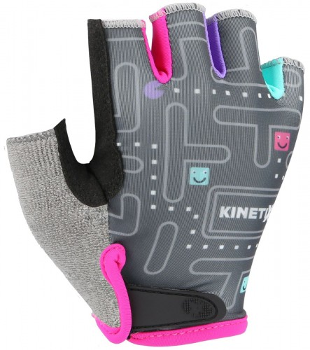 KinetiXx Lexy Kinder Fahrrad Handschuhe kurz schwarz/pink 2021