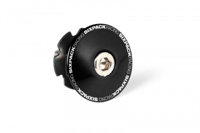 "Sixpack Aheadcap Fahrrad Steuersatzkappe 1-1/8""mit Kralle schwarz"