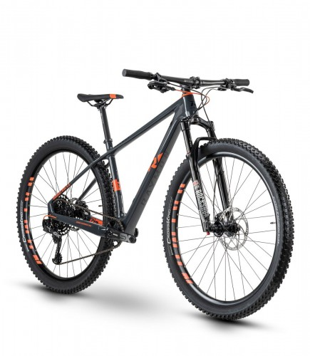 Raymon HardRay Nine 8.0 29'' Carbon MTB Fahrrad grau/rot 2021