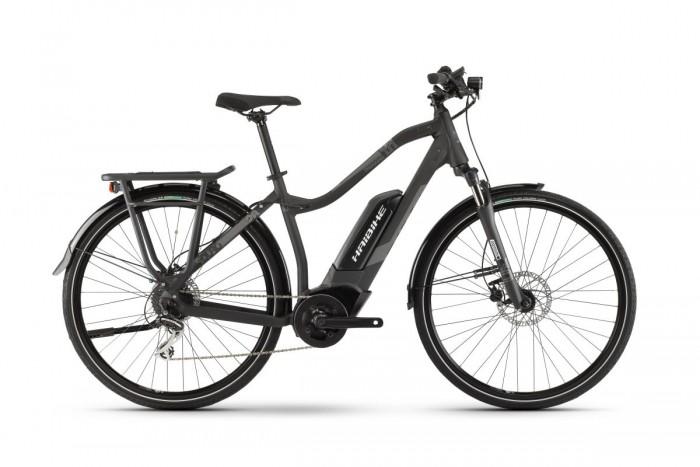 Haibike Sduro Trekking 1.0 Damen Pedelec E-Bike Fahrrad schwarz/grau 2021
