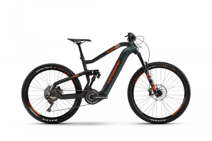 Haibike Xduro AllMtn 8.0 Flyon 27.5'' Carbon Pedelec E-Bike MTB grün/schwarz/orange 2021