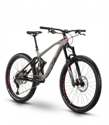 Raymon Fullray 8.0 27.5'' MTB Fahrrad grau/rot 2020
