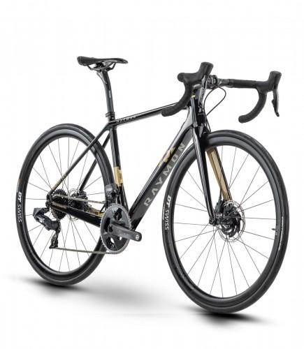 Raymon Raceray 10.0 Carbon Rennrad schwarz/goldfarben 2021