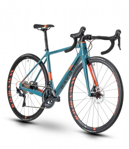 Raymon Raceray 8.0 Carbon Rennrad petrol blau/orange 2021
