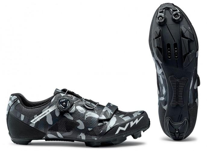 Northwave Razer MTB Fahrrad Schuhe camo schwarz/grau 2020