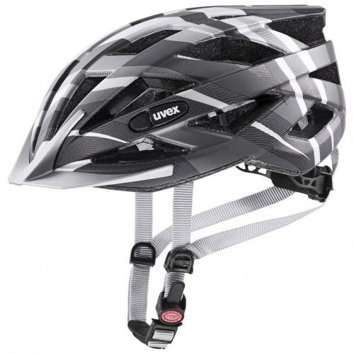 Uvex Air Wing CC Fahrrad Helm schwarz/silberfarben 2021 52-57cm