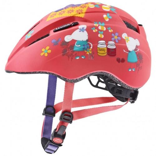 Uvex Kid 2 CC Mouse Kinder Fahrrad Helm Gr. 46-52cm coral rot 2021