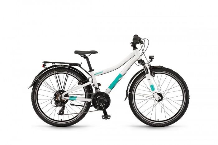 "Winora Dash 24""21 Gang Kinder Fahrrad weiß/grün 2020"
