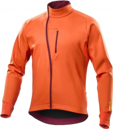 Mavic Aksium Thermo Winter Fahrrad Softshell Jacke orange 2018