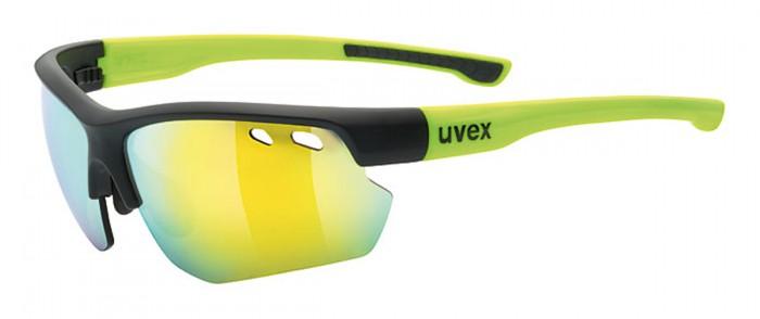 Uvex Sportstyle 115 Wechselscheiben Fahrrad Brille schwarz/gelb