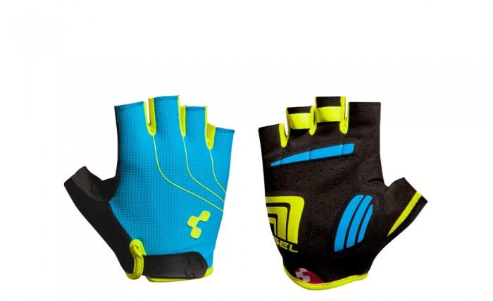 Cube Natural Fit LTD Fahrrad Handschuhe kurz blau/lime/schwarz 2019