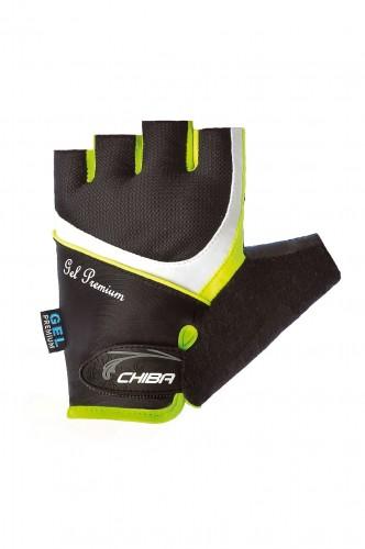 Chiba Lady Gel Damen Fahrrad Handschuhe kurz schwarz/gelb 2020