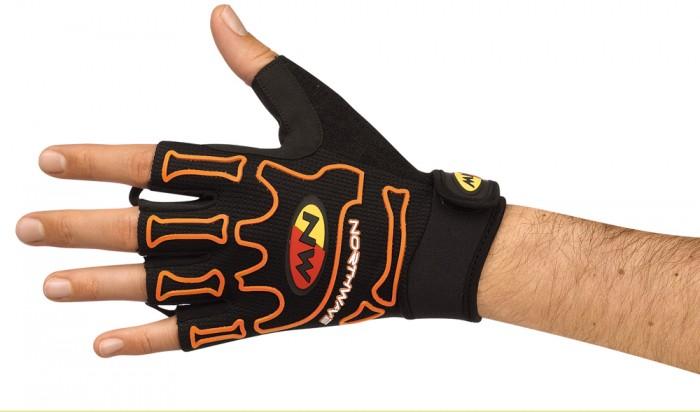 northwave skeleton fahrrad handschuhe kurz schwarz orange. Black Bedroom Furniture Sets. Home Design Ideas