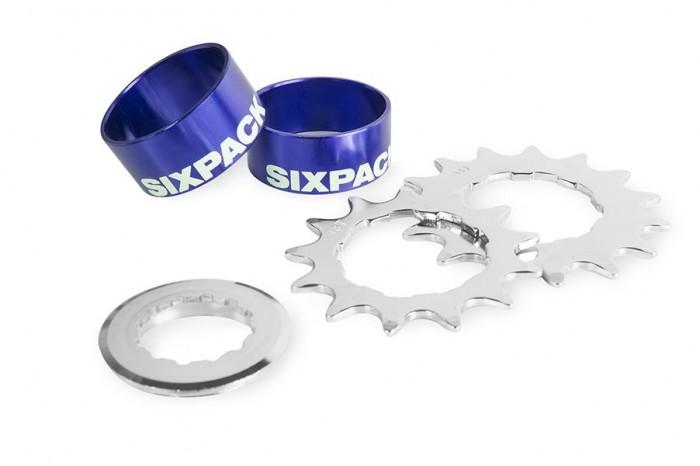 Sixpack Single Speed Umbau Kit 2015 blau