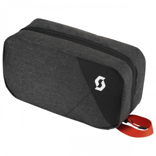Scott Toiletry Bag Reise-Kulturtasche grau/schwarz/rot
