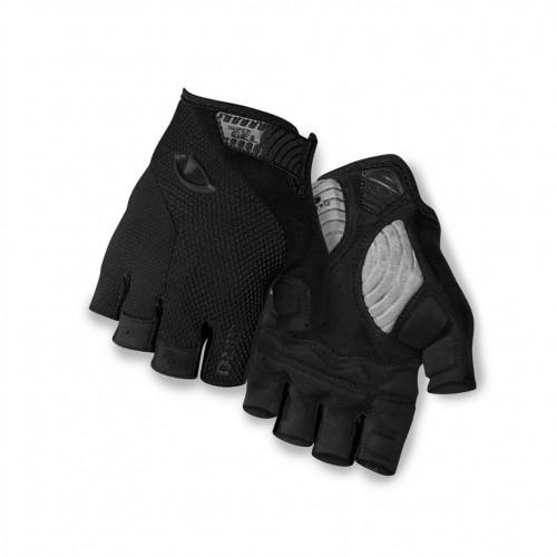 giro strate dure supergel fahrrad handschuhe kurz schwarz. Black Bedroom Furniture Sets. Home Design Ideas