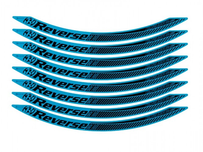 Reverse Stickerkit, für Base DH Felge 650B light blau