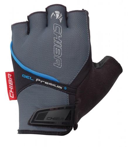 Chiba Gel Premium Fahrrad Handschuhe kurz grau 2021