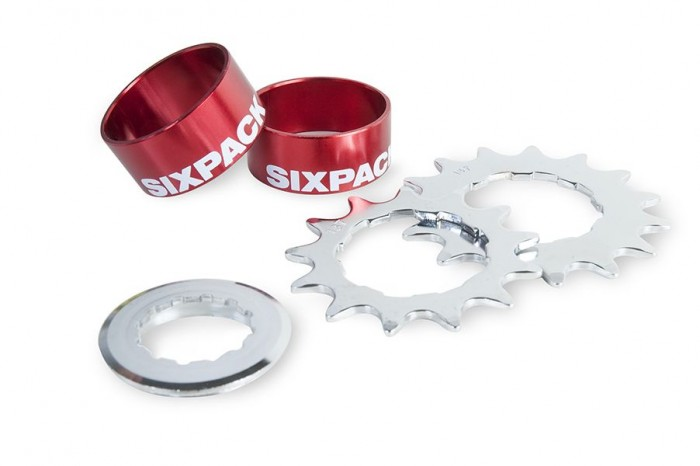 Sixpack Single Speed Umbau Kit 2015 rot