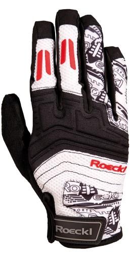 Roeckl Minden Fahrrad Handschuhe lang schwarz/rot 2012