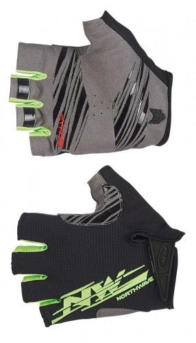 northwave mtb air 2 fahrrad handschuhe kurz schwarz gr n. Black Bedroom Furniture Sets. Home Design Ideas