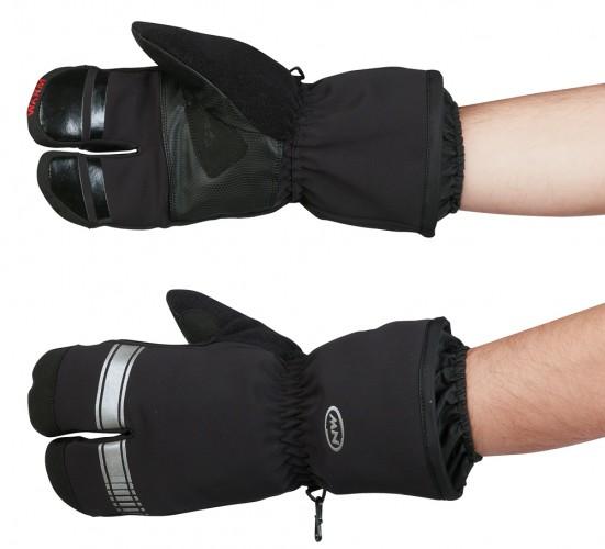 Northwave Husky Lobster Winter Fahrrad Handschuhe schwarz 2021