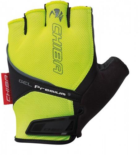 Chiba Gel Premium Fahrrad Handschuhe kurz gelb 2022