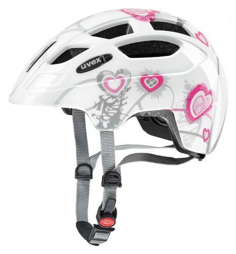 Uvex Finale Junior Kinder Fahrrad Helm Gr. 51-55cm weiß/pink 2020