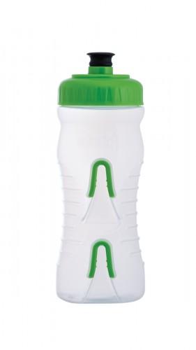 Fabric Cageless Fahrrad Trinkflasche / Flaschenhalter transparent/grün 600ml