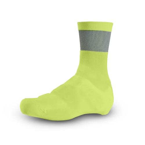Giro Knit Fahrrad Überschuhe gelb/schwarz 2021