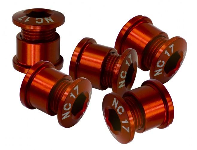 NC-17 Kettenblattschraube 5 Loch Set rot
