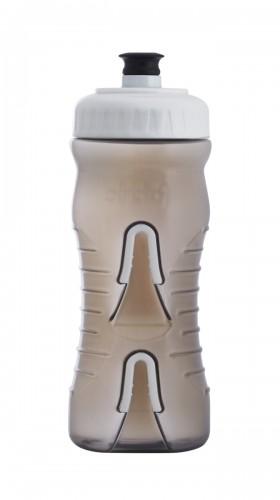 Fabric Cageless Fahrrad Trinkflasche / Flaschenhalter grau/weiß 600ml