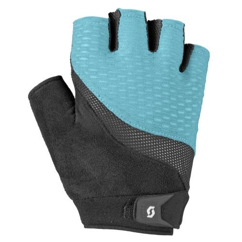 scott essential damen fahrrad handschuhe kurz blau schwarz. Black Bedroom Furniture Sets. Home Design Ideas