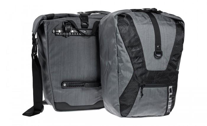 Cube Travel Fahrrad Gepäckträger Tasche grau