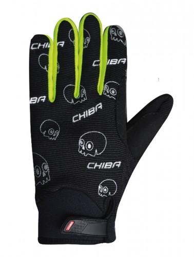 Chiba Bones Kinder Fahrrad Handschuhe lang schwarz/gelb 2021