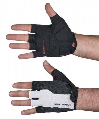 Northwave Evolution Fahrrad Handschuhe kurz schwarz/weiß 2019