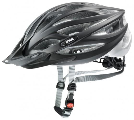 Uvex Oversize Fahrrad Helm schwarz matt/silber 2017 Gr. 61-65cm