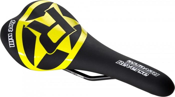 Reverse Fort Will CroMo Style MTB Fahrrad Sattel schwarz/gelb