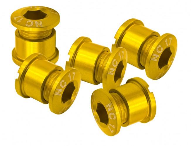 NC-17 Kettenblattschraube 5 Loch Set gold