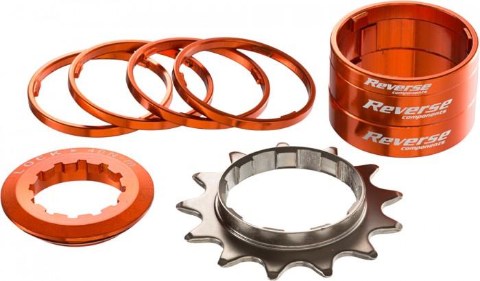 Reverse Single Speed Umbau Kit 13 Zähne orange