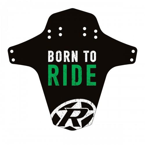 Reverse Mudguard Schutzblech Born to Ride, neon grün